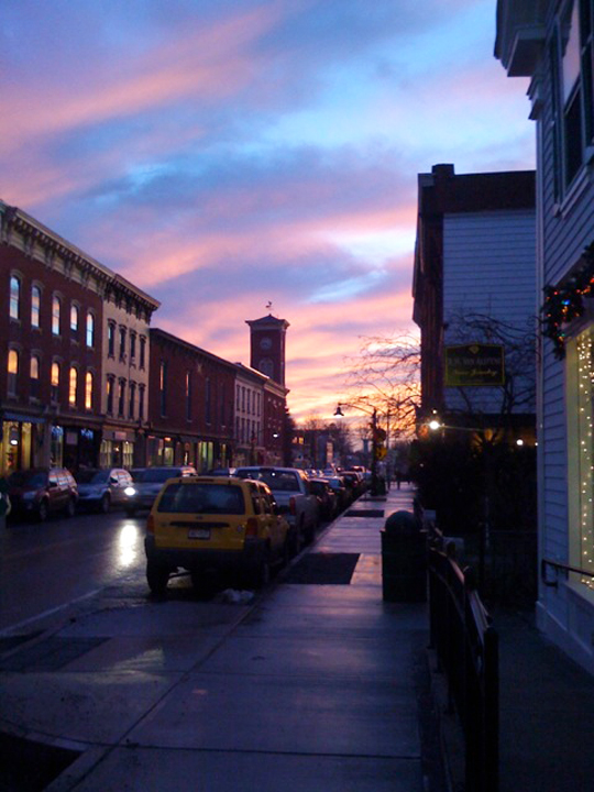 Chatham Village sunset